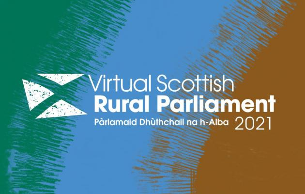 """Virtual Scottish Rural Parliament 2021"" in text"